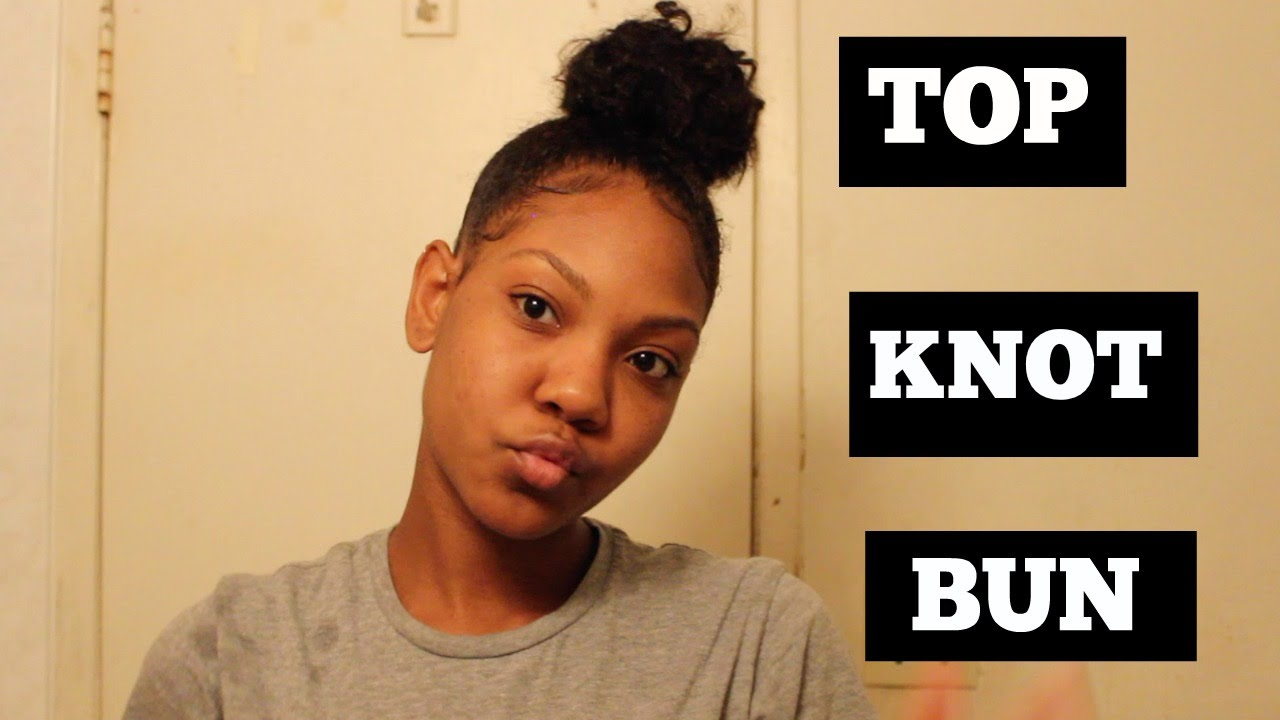EASY Top Knot Bun Tutorial Short To Medium Length Hair