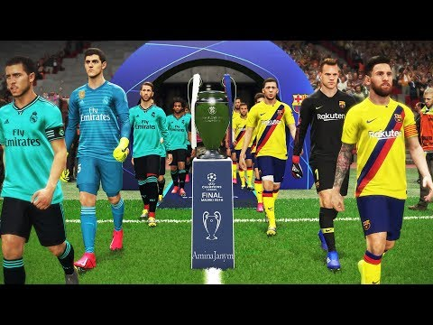 UEFA Champions League Final 2020 *** Barcelona Vs Real Madrid *** Hazard To Real Madrid /// PES 2019