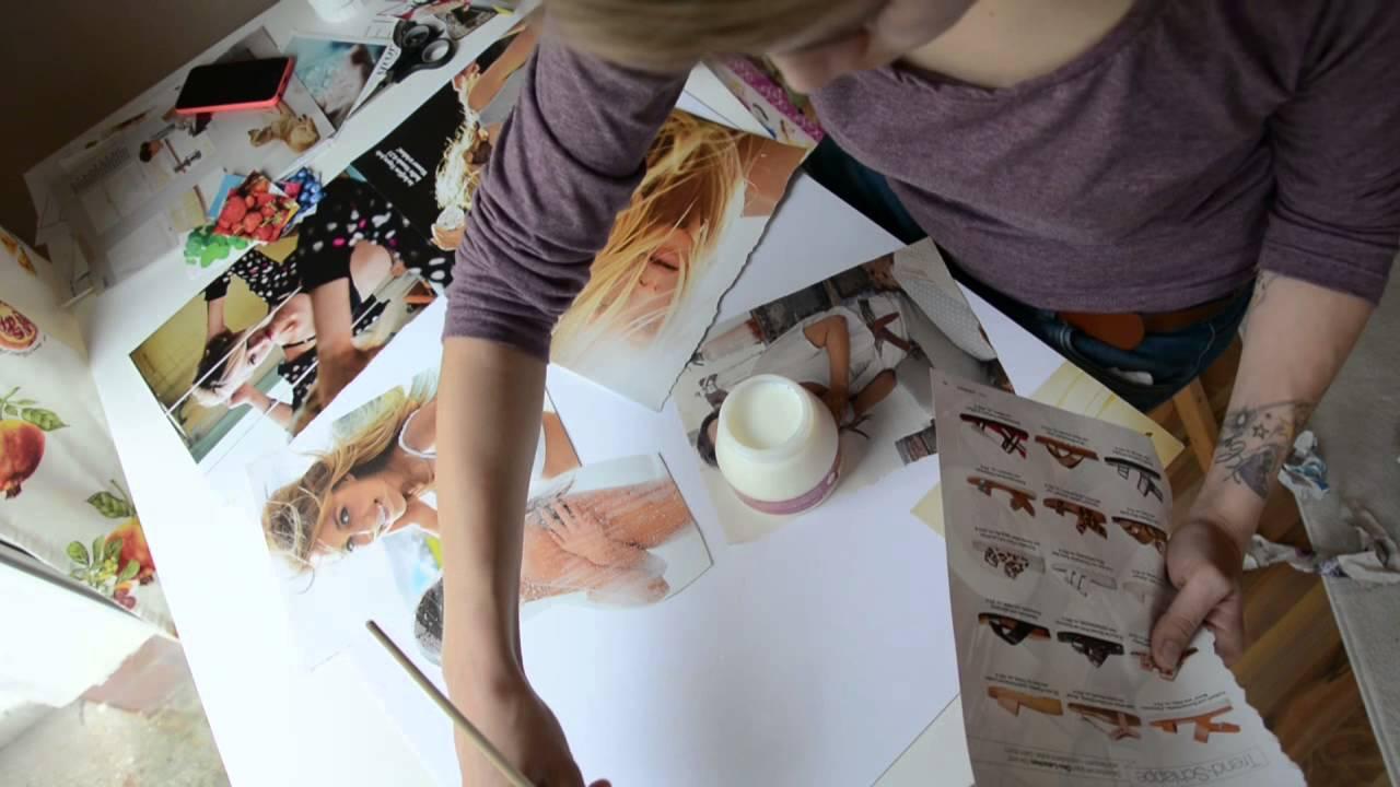 Kreativstunde #1 II Raumdekoration II Collage DIY - YouTube