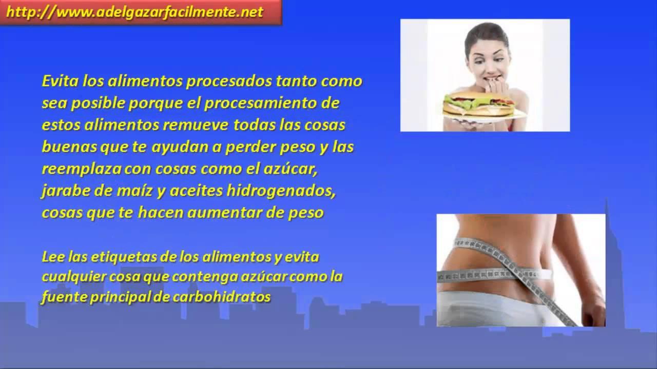 Que dejar de comer para bajar de peso r pido youtube - Que cenar para perder peso rapido ...
