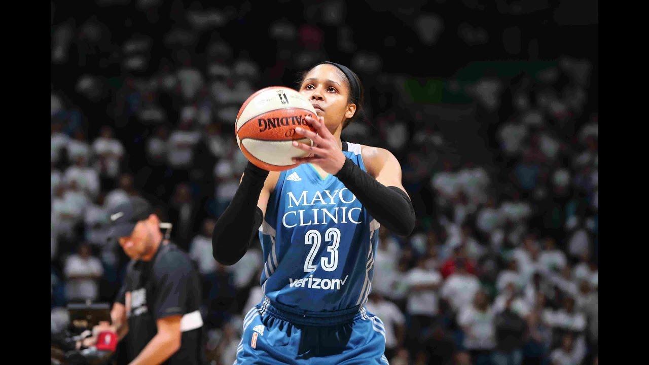 31c30fcc53e Maya Moore Becomes WNBA Finals Scoring Leader - YouTube