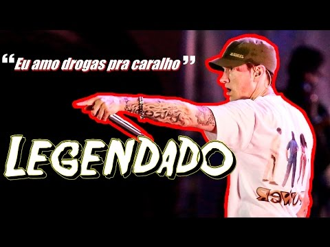 Eminem Live Lollapalooza Brasil - Conversa com público + My Name Is 'LEGENDADO'