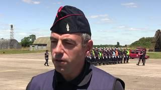 Préparation du bataillon des sapeurs-pompiers au défilé du 14 juillet 2017