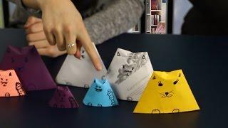 Оригами коты Матрешки из бумаги (DIY) сделай сам