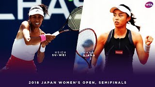 Hsieh Su-Wei vs. Wang Qiang | 2018 Japan Women's Open Semifinal | WTA Highlights