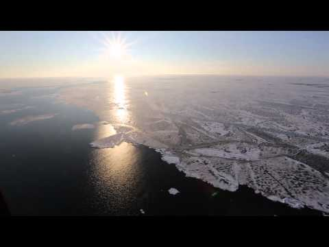 Polarstern rotorcraft flies over thin and young Arctic sea ice, 2012, 83° North; 110° East, take 3