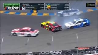 Monster Energy NASCAR Cup Series Sonoma 2017 DaleJr Crashes Into Patrick/Larson
