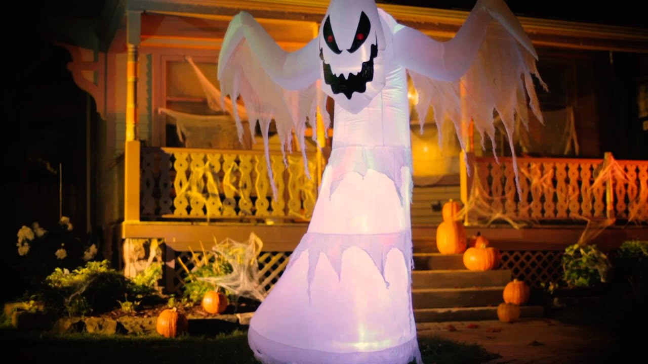 inflatable fire ice ghost halloween decoration improvements catalog youtube - Blow Up Halloween Decorations