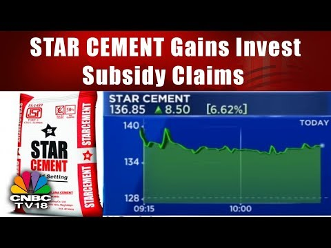 STAR CEMENT Gains Invest Subsidy Claims | CHART BUSTERS | CNBC TV18