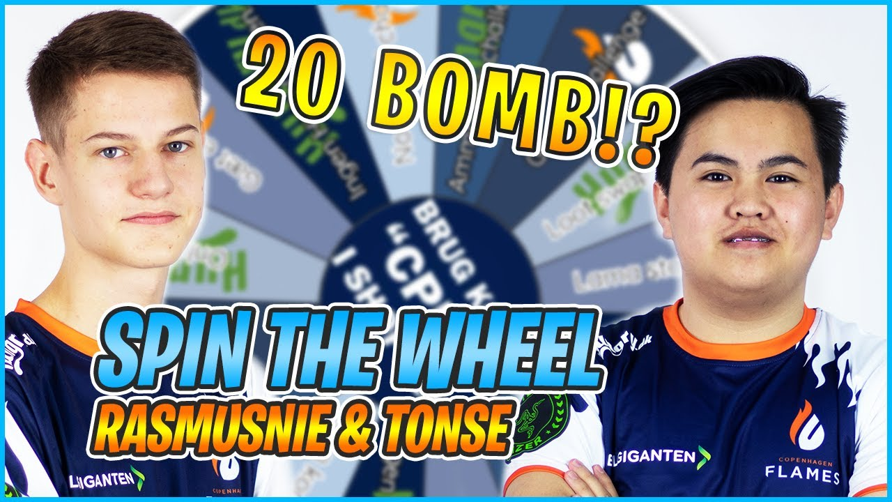 """""""20 BOMB I SPIN THE WHEEL CHALLENGE!?"""" Hungry Spin the Wheel Challenge ft t0nse & Rasmusnie #reklame"""