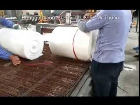 Dây truyền sản xuất bông gốm dạng tấm