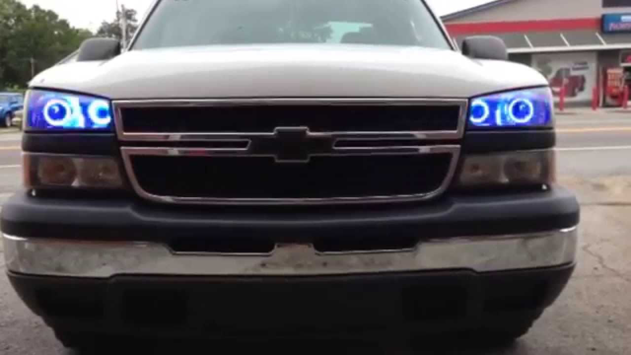 Apoc Color Changing Led Halo S 03 06 Chevy Silverado Youtube