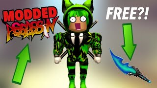 so i went on Modded Assassin in Roblox and this happened!...