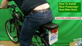 How To Install Rear Passenger Seat Bike Rack How To Build a Motorized Bike Part 29