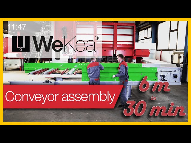 How to install 6 m of conveyor in less than 30 minutes | WeKea®