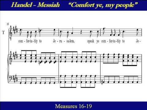 Tenor Handel Messiah Comfort Ye My People Score