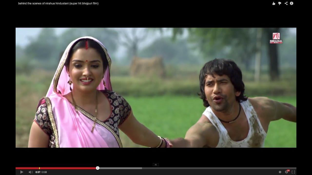 behind the scenes of nirahua hindustani (super hit bhojpuri film)
