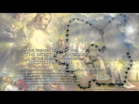 How to Pray the Rosary in Latin - The Sorrowful Mysteries, Part 2/2
