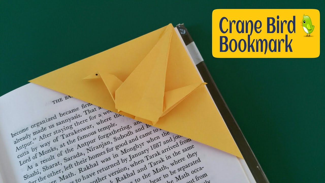 how to make a paper quotcrane bird bookmarkquot useful origami