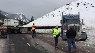 Ice makes travel on I-84 and SR 14 dangerous