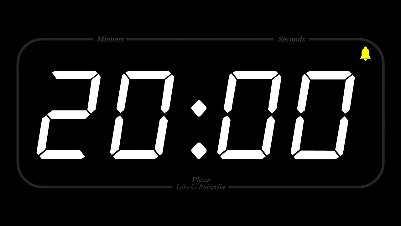 20 Minute Timer Alarm Full Hd