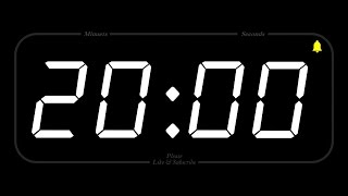 20 MINUTE - TIMER &amp ALARM - Full HD - COUNTDOWN