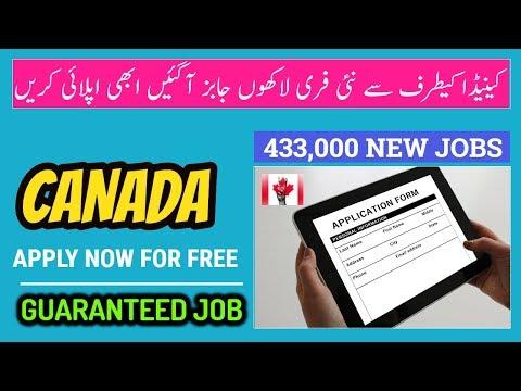 CANADA OFFERS 433,000 NEW FREE JOBS FOR ALL - Visa Guru