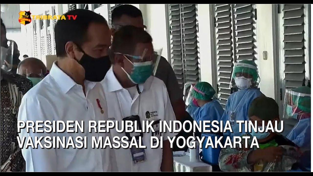 PRESIDEN TINJAU VAKSINASI MASSAL DI YOGYAKARTA