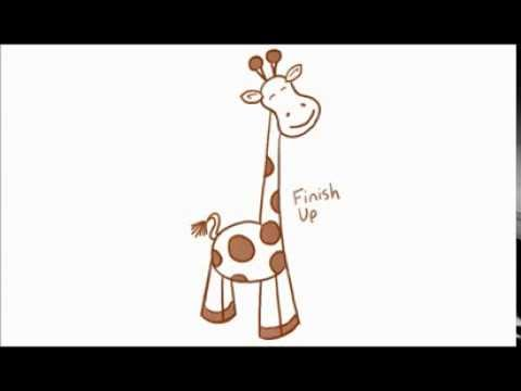 How To Draw A Cartoon Giraffe Using Simple Shapes 5 Of 5 Youtube