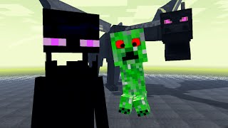 Monster School: Kids Mobs - Combat #3 (Minecraft Fight Animation, Ender Dragon, Zombie, Hulk)