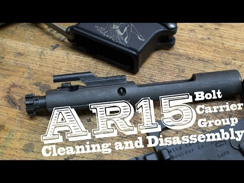 AR15 bolt carrier group cleaning and disassembly