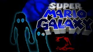 Super Mario Galaxy 2 Hell Valley Sky Trees Easter Egg/Unused Beta Element
