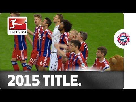 Fc bayern - 2015 bundesliga champions on matchday 30
