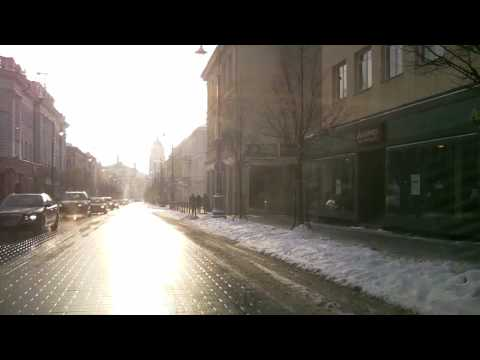 Weather in Vilnius, Lithuania, 2010-03-18, temperature - 0 C from Oras TV.MP4
