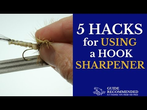 How To Sharpen A FLY FISHING HOOK Plus 5 HACKS