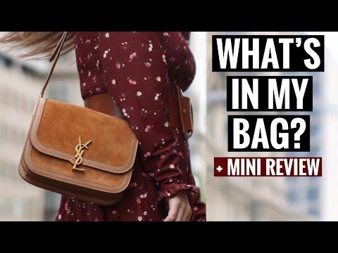 WHAT'S IN MY BAG   YSL SAINT LAURENT SOLFERINO BAG   MINI REVIEW inc What fits inside + Mod shots