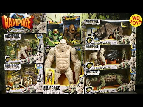 New 10 Rampage The Movie Toys Compare to King Kong Skull Island Unboxing