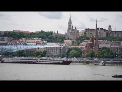 Air Show over the Danube (Sony A9 Time-lapse made with PlayMemories Home on 20170701)