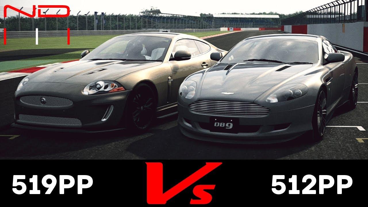 gt6) jaguar xkr coupe '10 vs aston martin db9 coupe '06