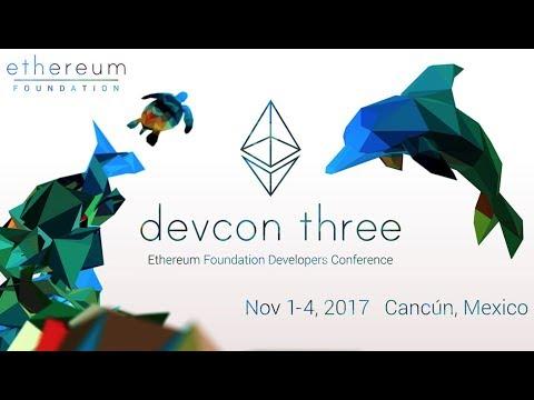 Ethereum Devcon3 Nov 1-4 2017