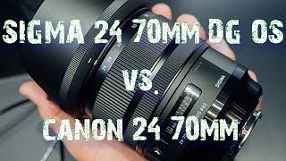 Sigma 24-70mm f/2.8 DG OS HSM Art Lens vs. Canon EF 24-70mm f/2.8L II USM Lens - Specs. Review