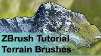 ZBrush Terrain Brushes - Sculpting realistic terrains in minutes