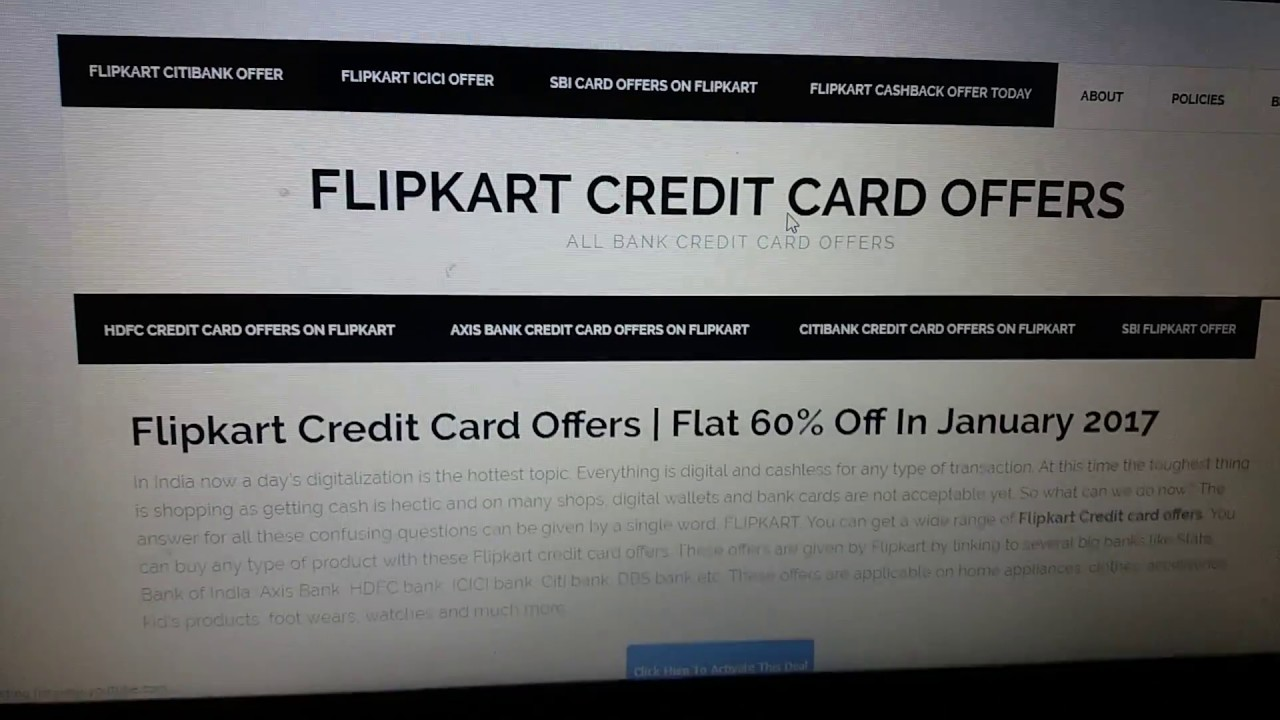 flipkart credit card offers 2017 youtube. Black Bedroom Furniture Sets. Home Design Ideas