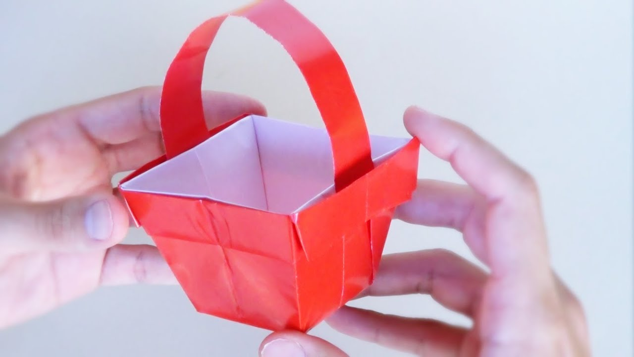 C mo hacer una cestita de papel origami youtube - Como hacer una manualidad ...