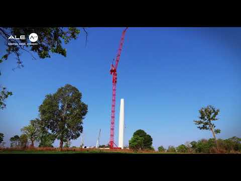 Installation of wind turbine generator, Thepharak wind farm project, Thailand