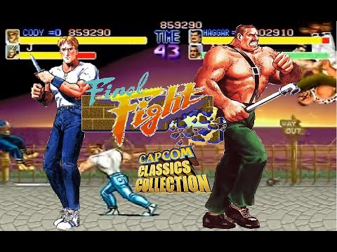 Final Fight Arcade Hardest Mike Haggar and Cody no death playthrough