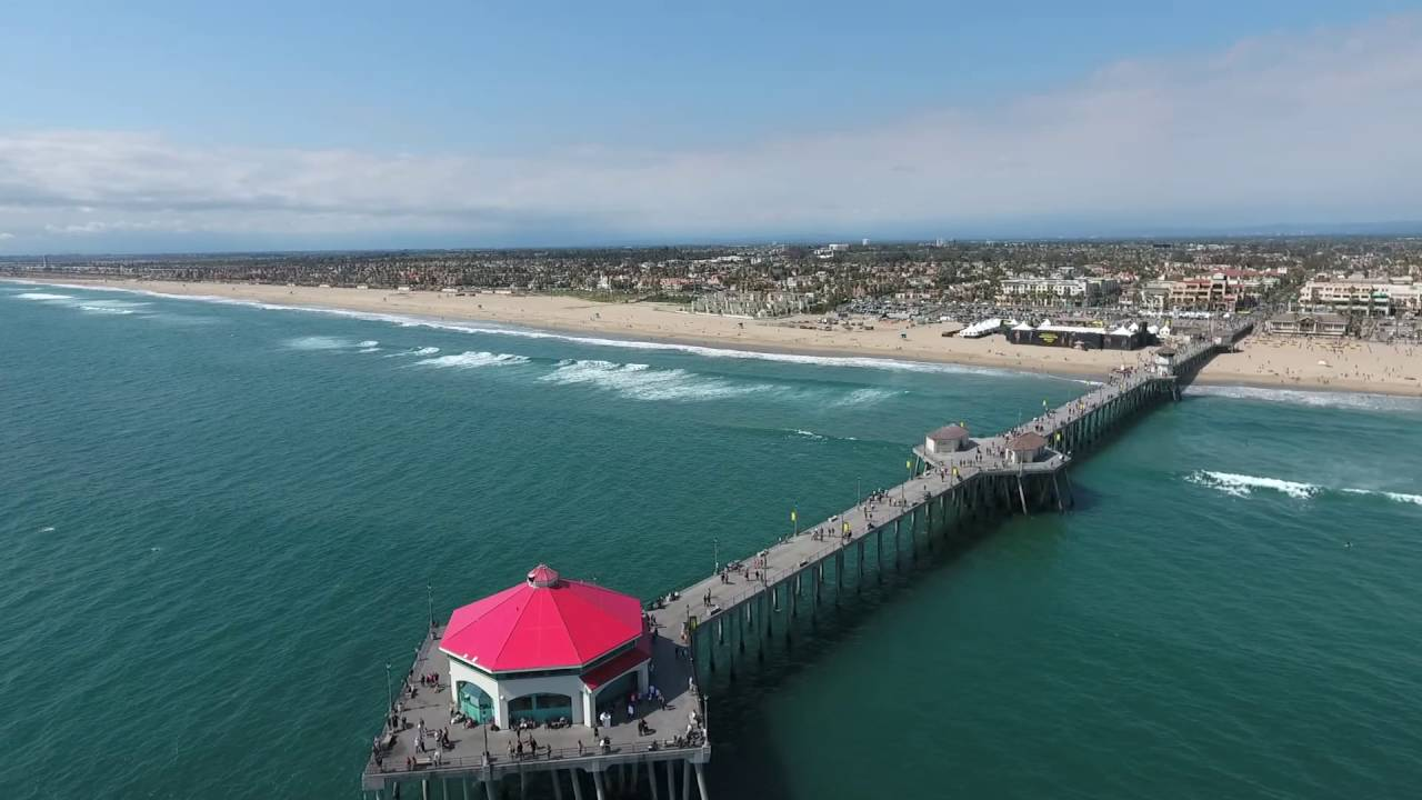 Huntington Beach Hd Drone Video You