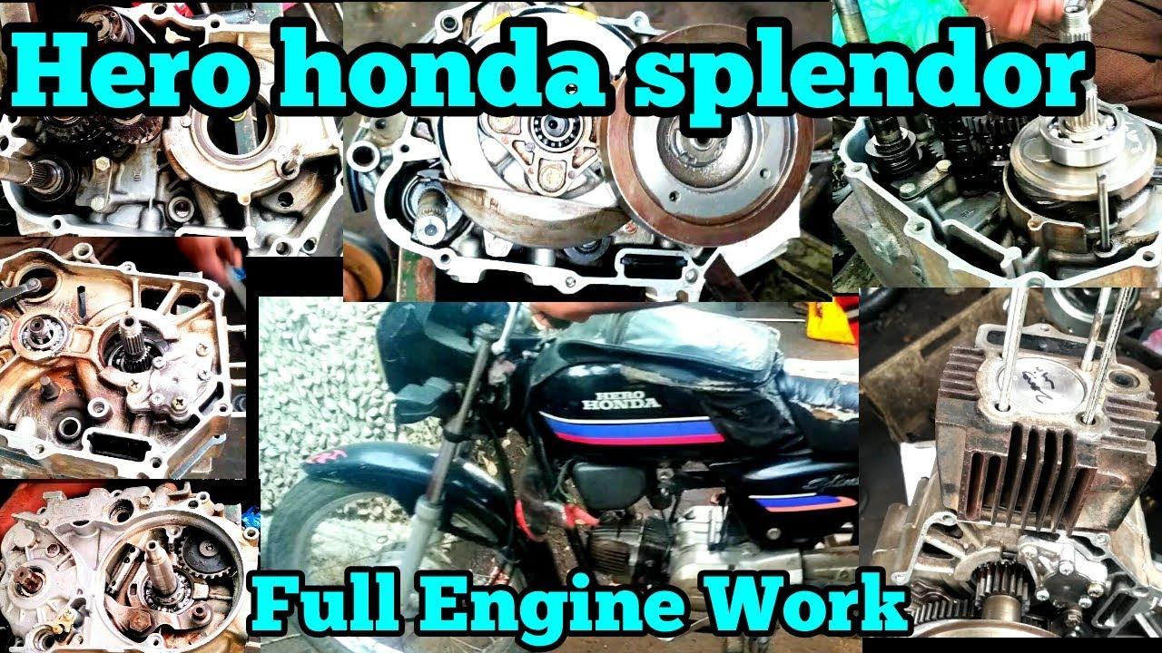 Hero Honda Splendor Full Engine Work In  U0ba4 U0bae U0bbf U0bb4 U0bcd    Rockfort