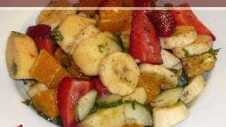 homemade Cream Fruit Salad with Almonds