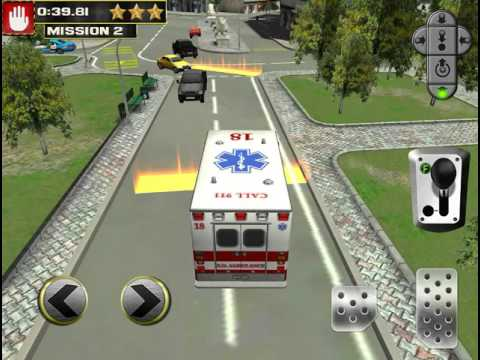 3D Emergency Parking Simulator Game - Real Police Fire Truck Ambulance Car Driving iOS Gameplay